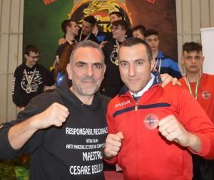Il Presidente Regionale wtka Cesare Belluardo ed il Promoter Maurizio Arena